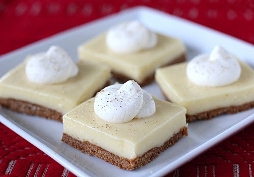 The Galley Gourmet: Eggnog Cheesecake Bars