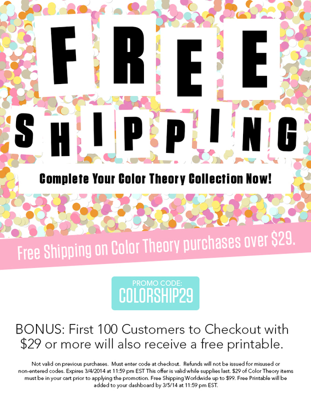 Studio Calico Color Theory Free Shipping Offer