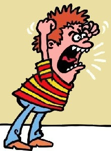 niño enfadado gritando