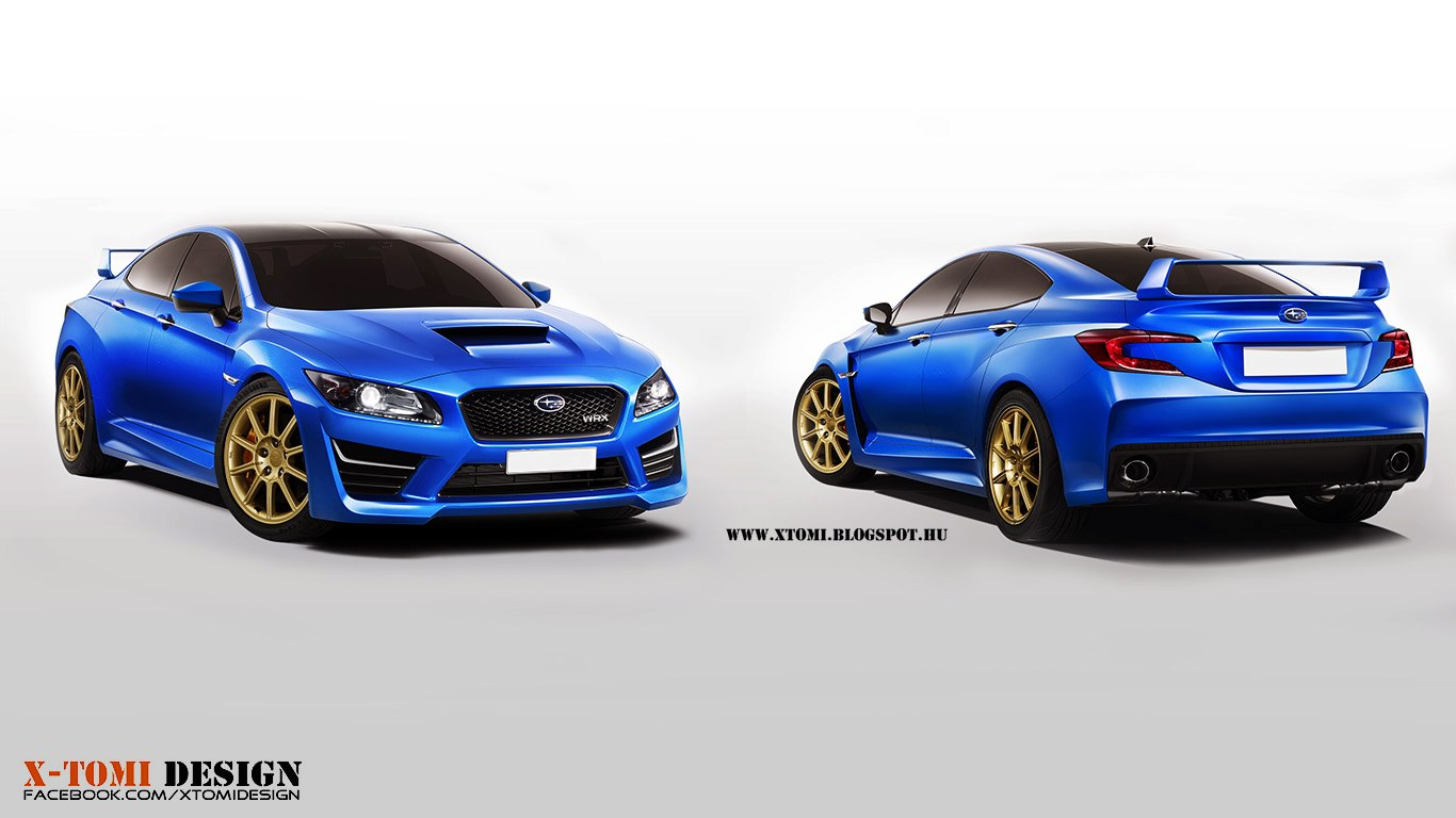 Subaru Impreza WRX STi Concept Rendered 2013 by X-Tomi Design
