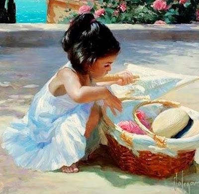 retratos-impresionistas-de-niñas-pintados-al-oleo
