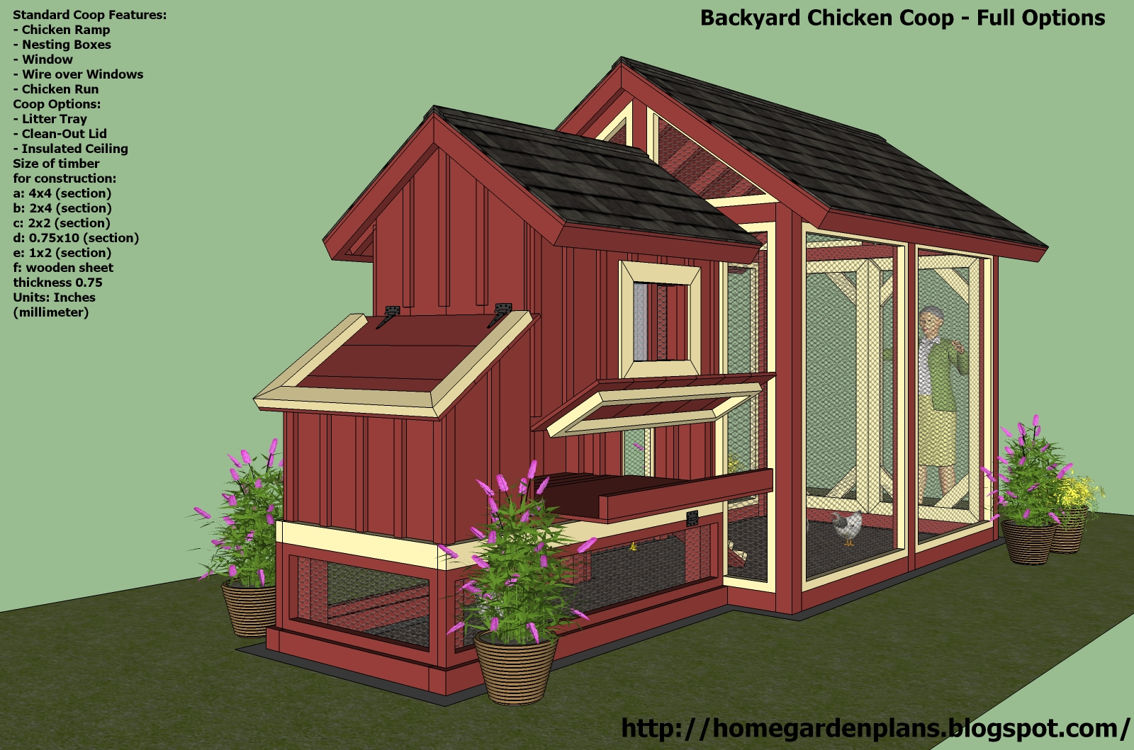 Yam coop buy free chicken house plans pdf for Plans for chicken coops