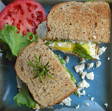 Kitchen Bounty: Fried Egg Sandwich with Blue Cheese, Basil ...