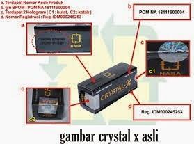 Cara Membedakan Crystal X Asli Dengan Yang Palsu