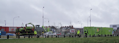 30 March 2011 - The start of the civil engineering to build RISE on Broadway roundabout