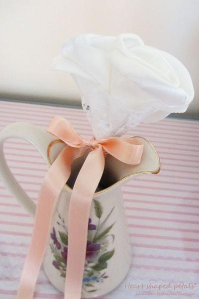 bouquet rosas em tecido solteiras