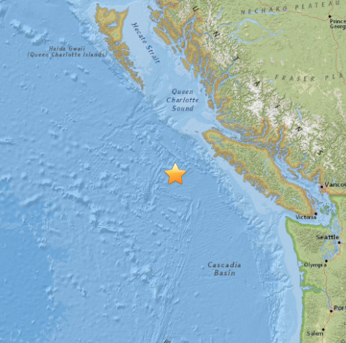 Earthquake Event Potential Vancouver Island