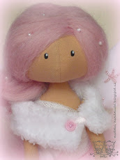 Christmas angel in pink