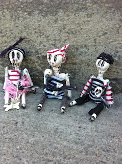 Skeleton crew pirate art dolls miniature