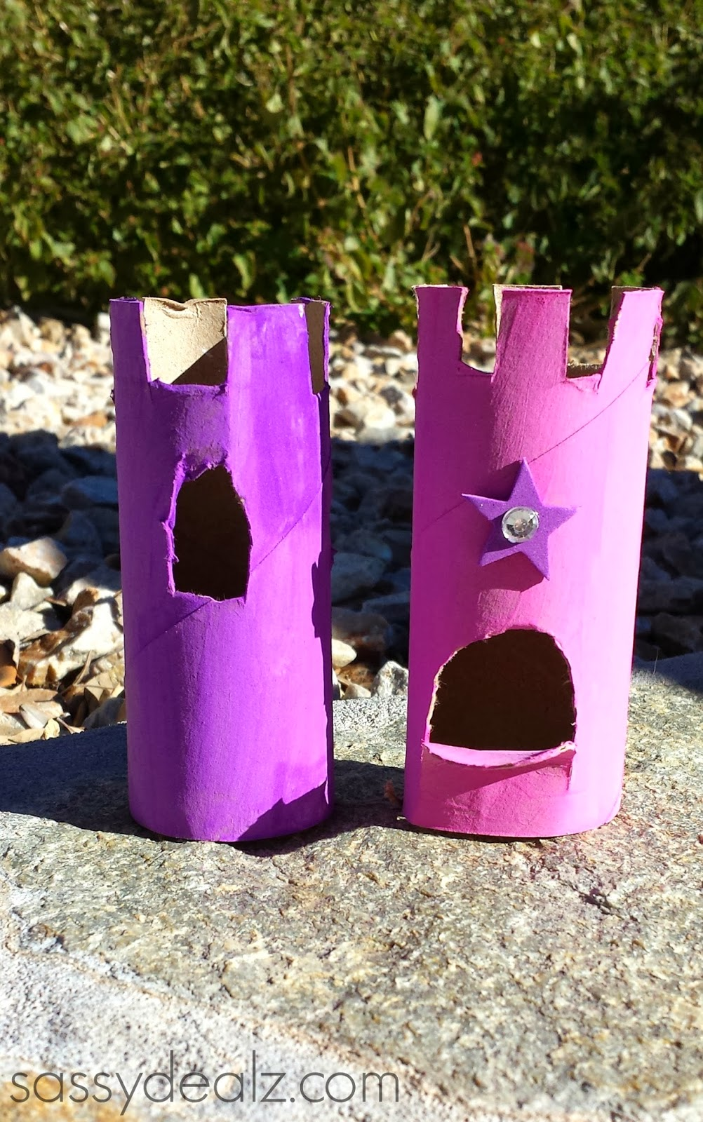 toilet paper roll castles craft for kids