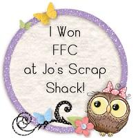 Jo's Scrap Shack - 4 images Little Blue Button