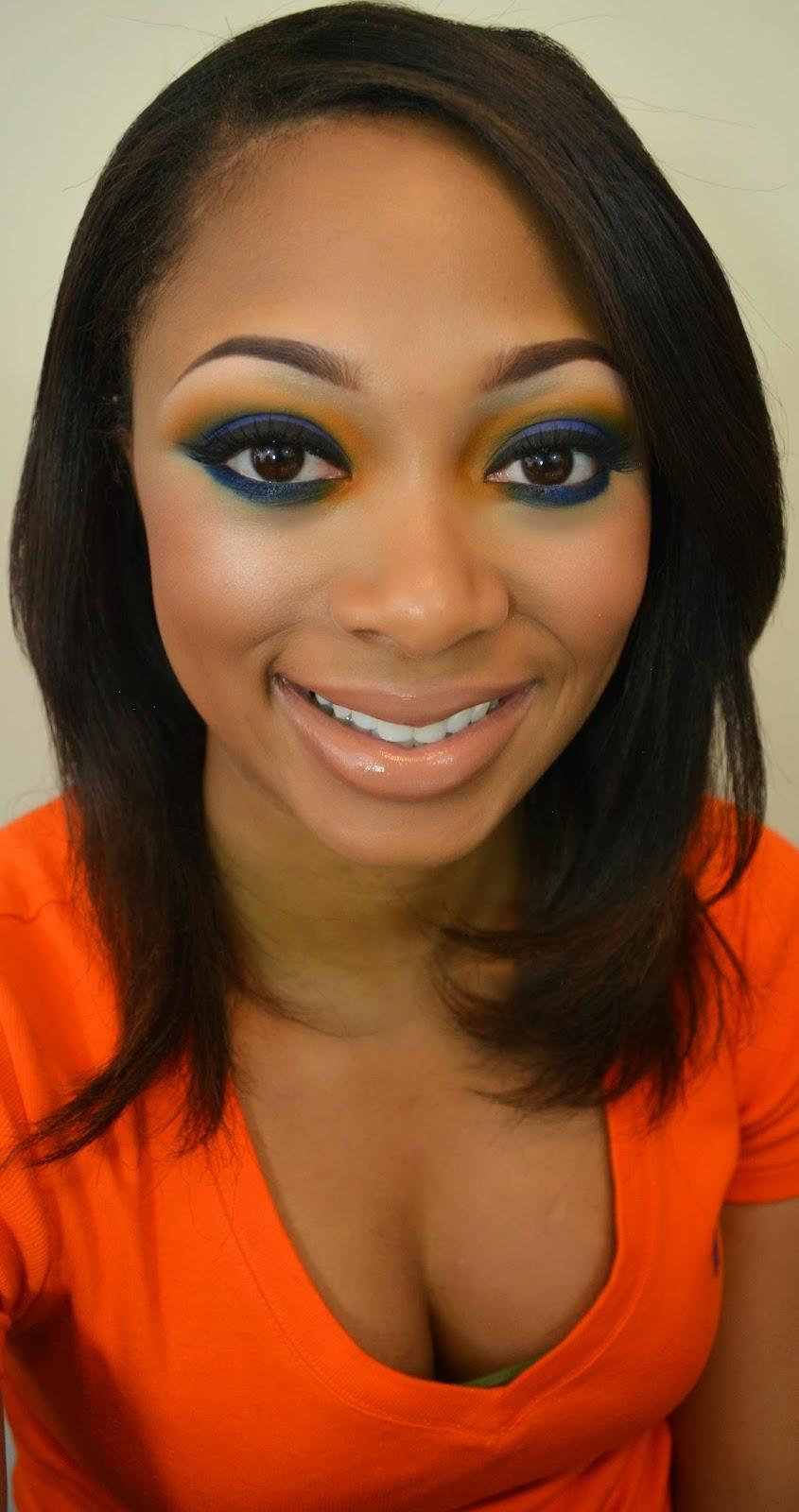 Denver Broncos Makeup Tutorial