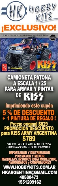 Hooby Kits: Promoción exclusiva para Kiss Army Argentina