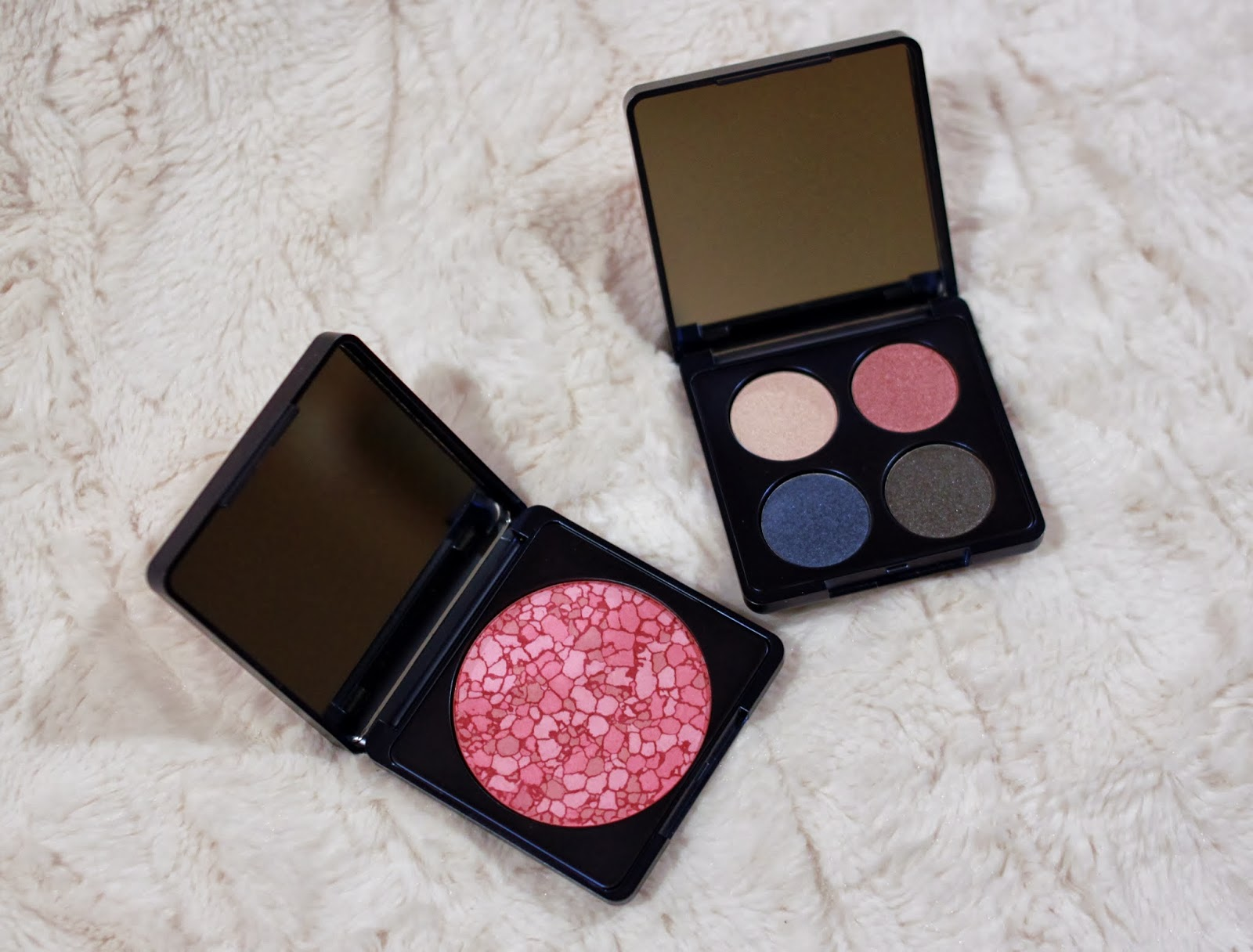 Lise Watier Spring 2014 eyeshadow palette and blush. Photo: Just J