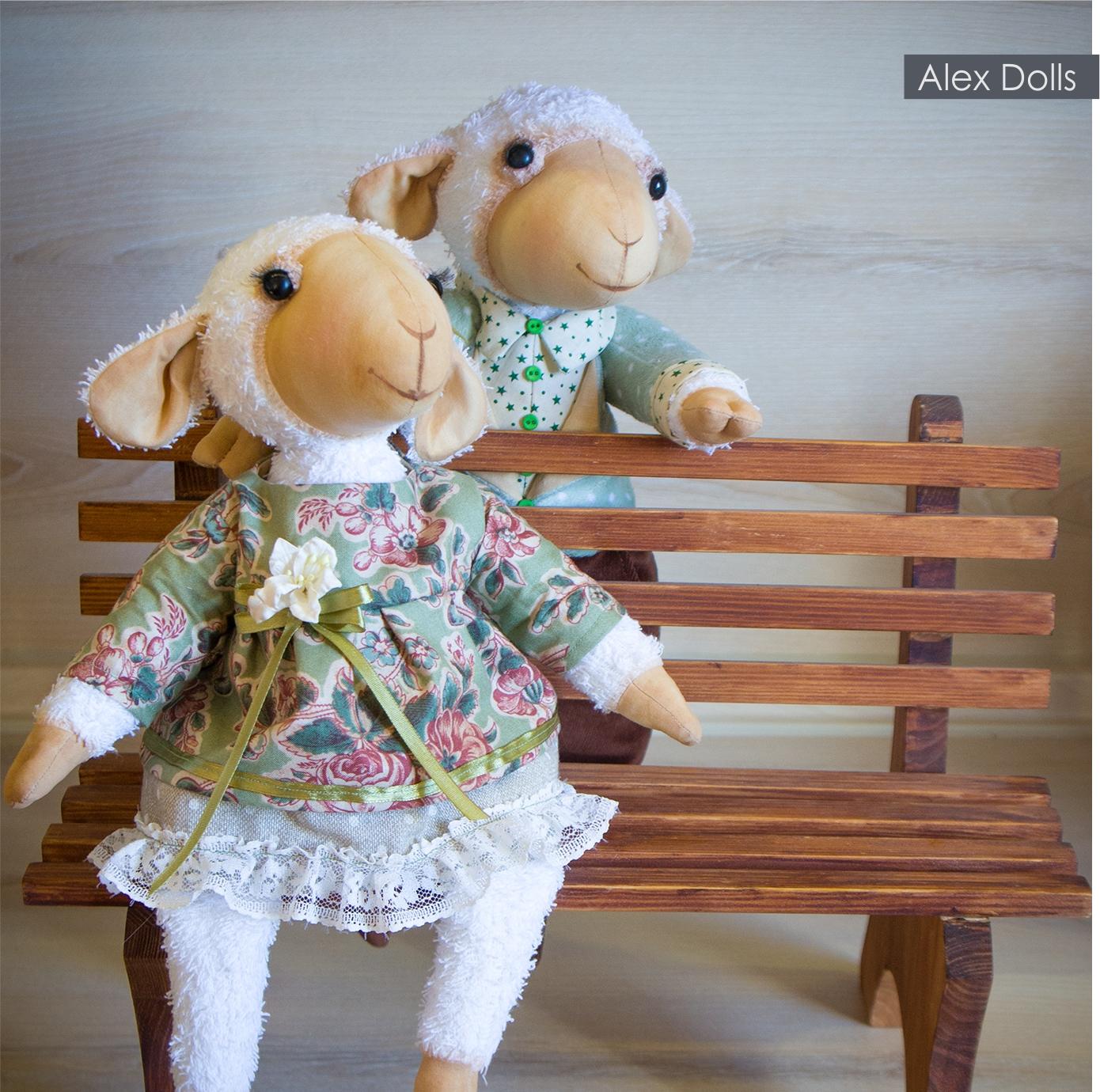 овечка, текстильная овечка, ручная работа, барашек, овен, год козы, коза