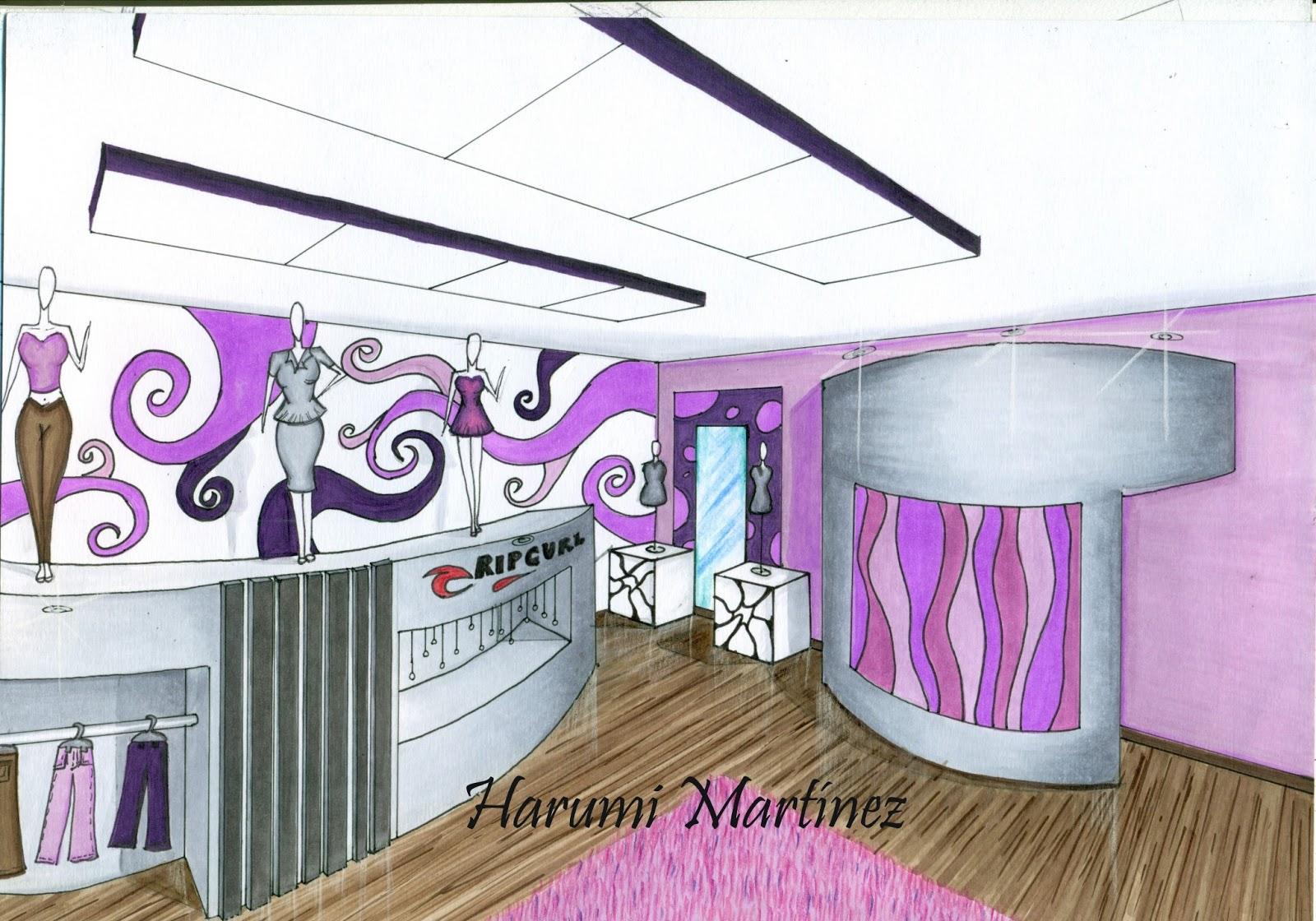 Dibujo perspectiva y color harumi mart nez - Tecnicas para pintar una habitacion ...