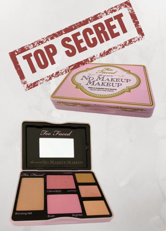Get the secret behind Too Faced The Secret To No Makeup Makeup including bronzer, blush, concealer, luminizer and brightener.