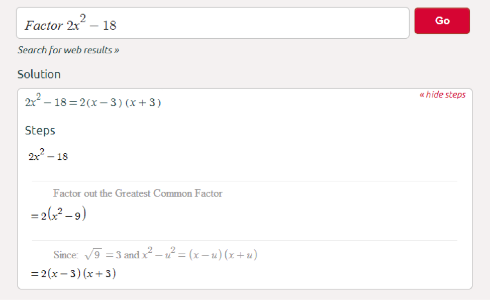 Symbolab Blog: Middle School Math Solutions - Factoring Calculator
