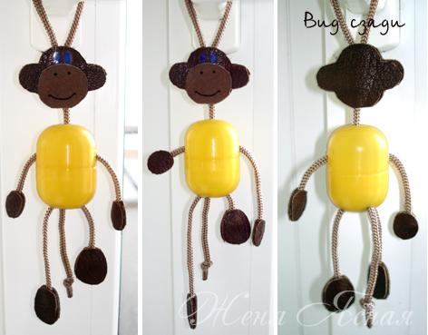 Сделать новогоднюю игрушку обезьяну своими руками