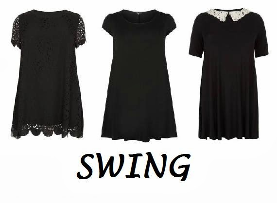 fashion, plus size fashion, Finding the perfect Little Black Dress for Your Body Shape, New Look, New Look Fashion, New Look Plus Size Range, New Look Inspire Range, swing dresses