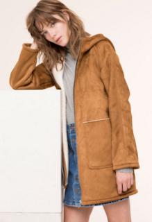 Manteau pas cher suédine Pull and Bear automne-hiver