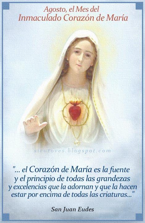 Agosto, el Mes del Inmaculado Corazón de María