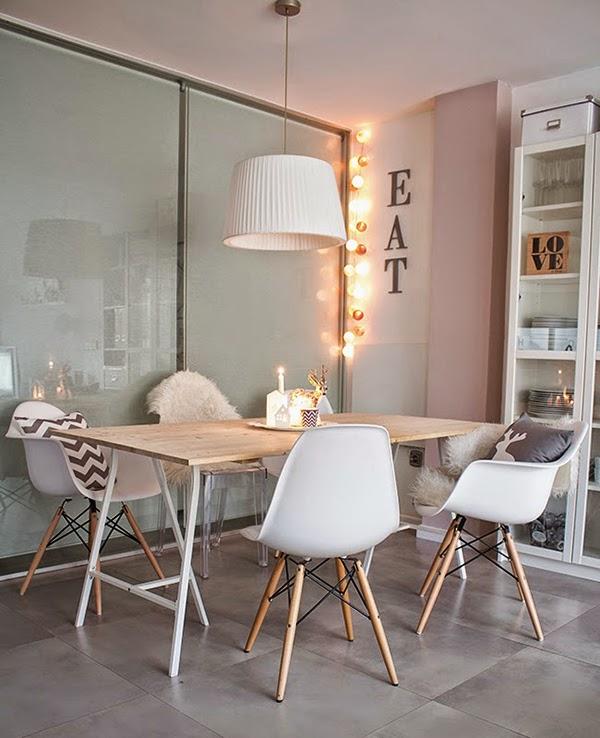 Sillas metalicas mas fotos for Salon comedor estilo nordico