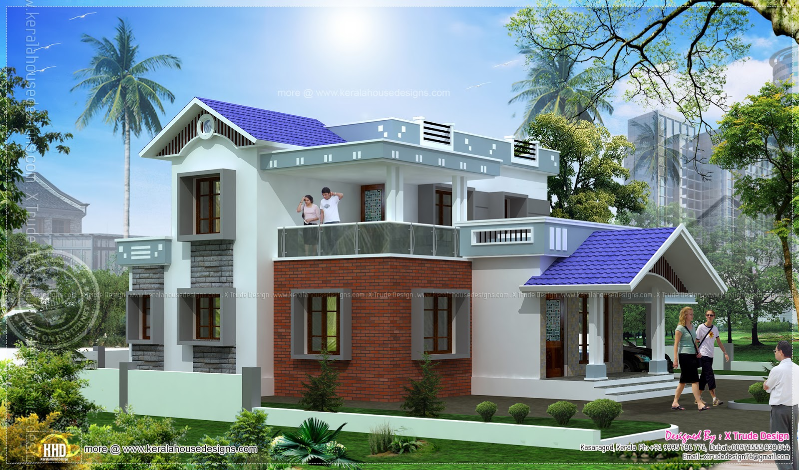 5 bedroom house elevation in 2344 sq feet keralahousedesigns for Car porch design in kerala