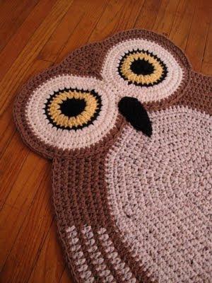Alfombra Buho De Crochet Y Bolsos