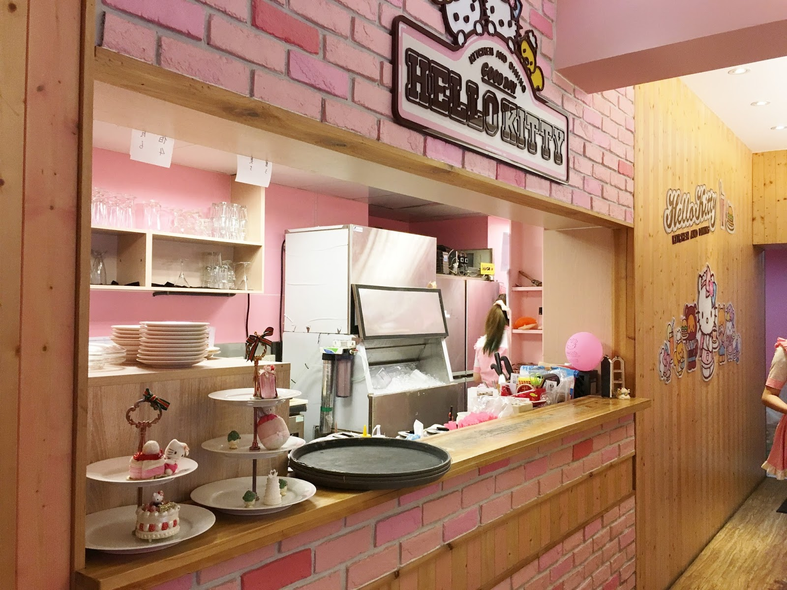 Hello kitty kitchen design - Passing Through To The Staircase Leading To The Second Floor Was The Kitchen Service Area Pink Kitty Fied