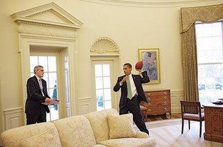 obama having fun at home