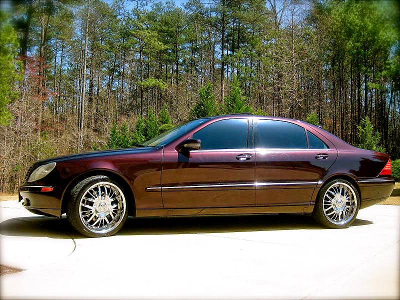 Mercedes benz s600 w220 on chrome rims benztuning for Chrome rims for mercedes benz
