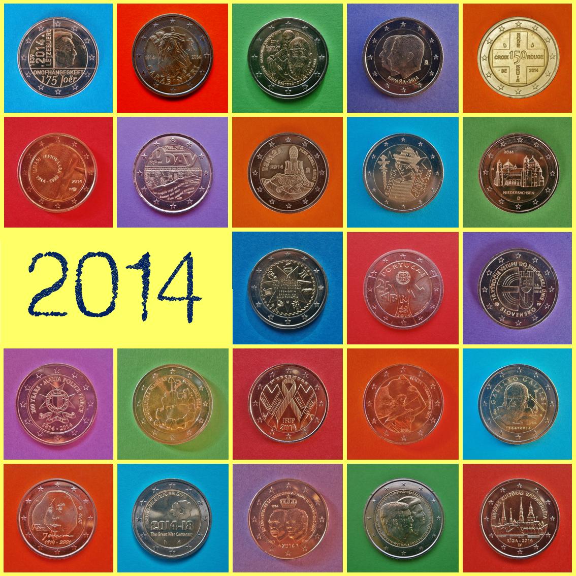 2014 2 Euros
