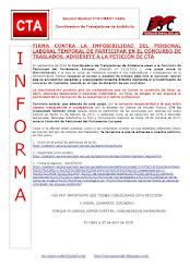FIRMA CONTRA LA IMPOSIBILIDAD DEL PERSONAL LABORAL TEMPORAL DE PARTICIPAR EN EL CONCURSO DE TRASLAD