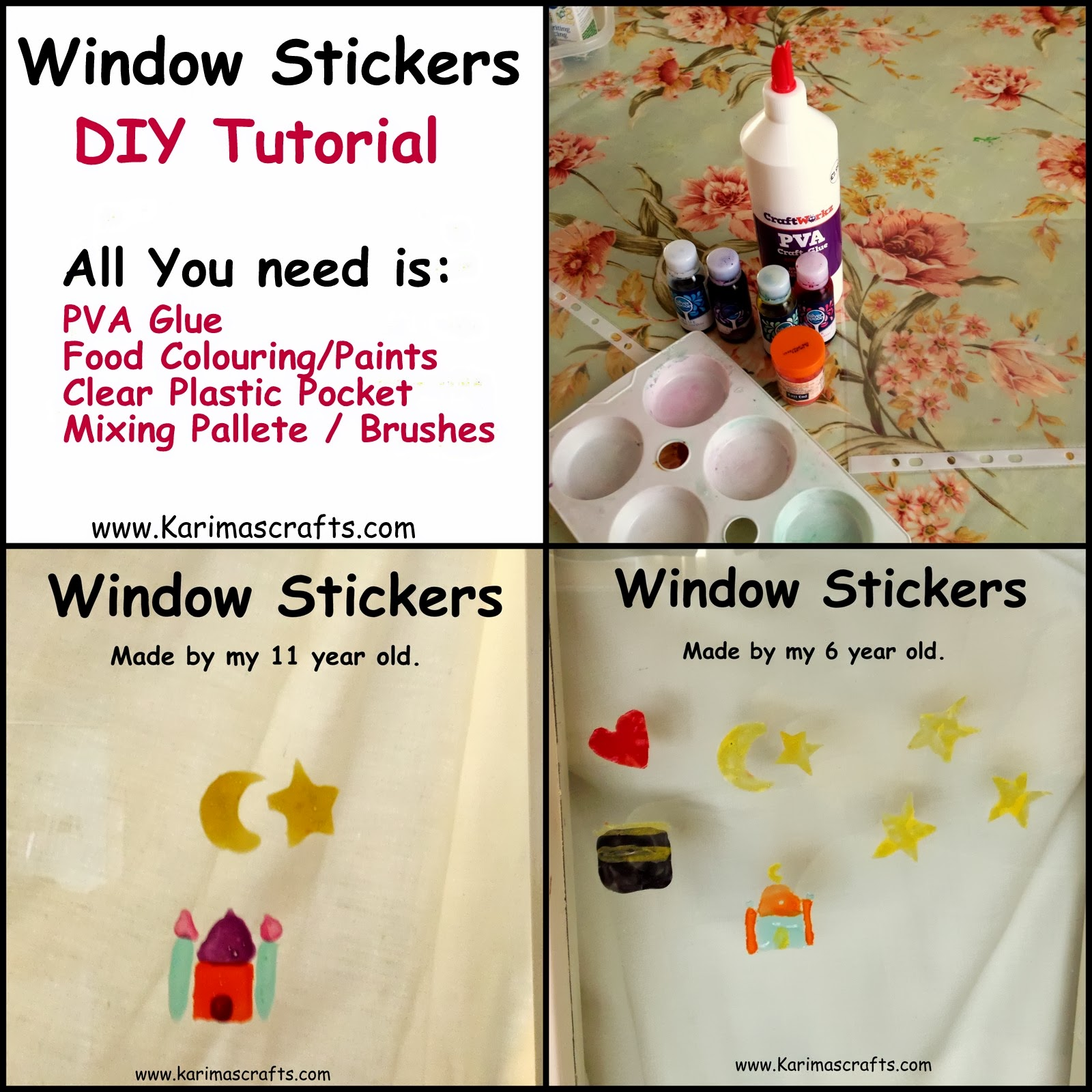 window stickers DIY tutorial islam muslim Ramadan Crafts
