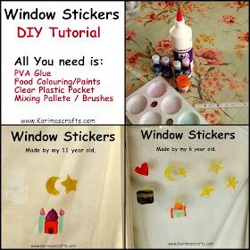 window stickers DIY tutorial islam muslim Ramadan Crafts