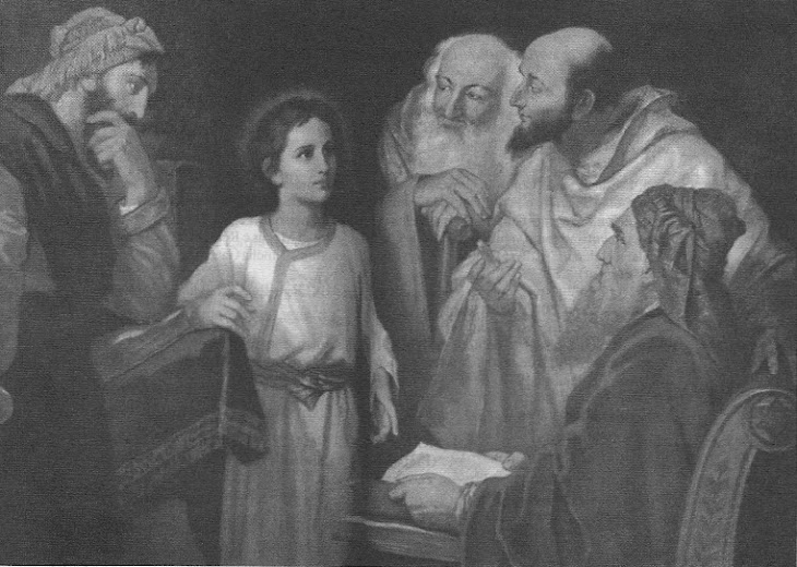 Menino Jesus no templo (pintura Heinrich Hofkann)