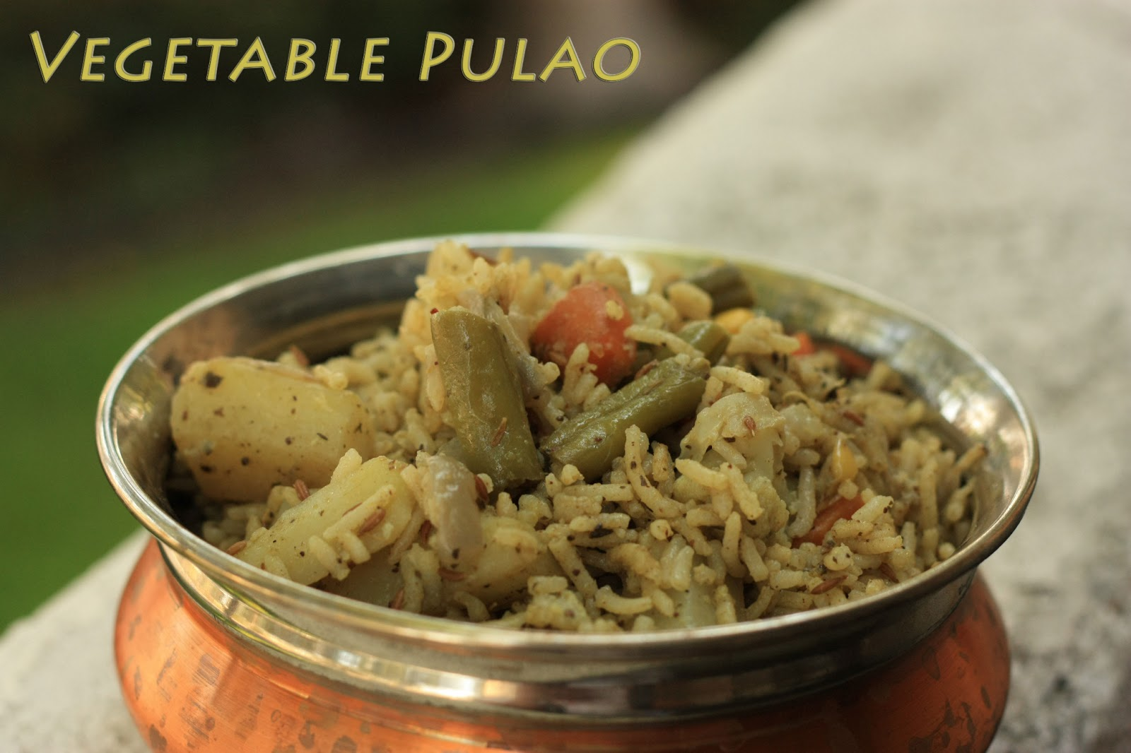 Vegetable Pulao (Cooked in Coconut Milk)