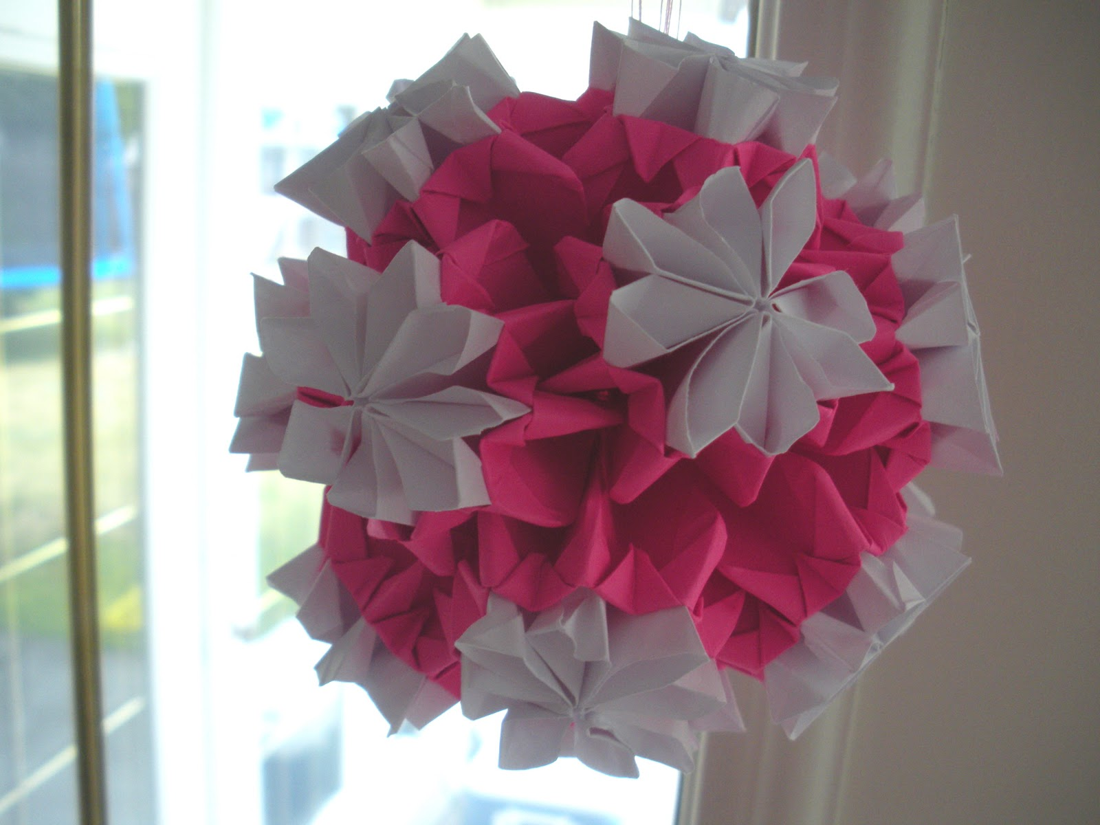 Paper Tape Pins Origami Kusudama Bouquet Of Double Flowers