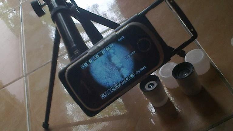 Kamera teleskop senapan angin mudahnya membuat mounting hp pada
