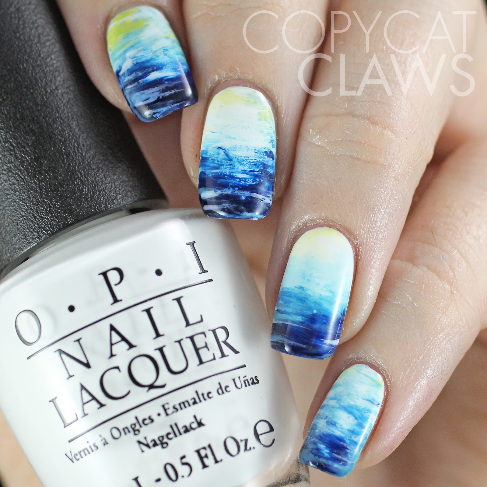 Copycat Claws: The Digit-al Dozen does Nature: Day 3 Fan Brush Ocean ...