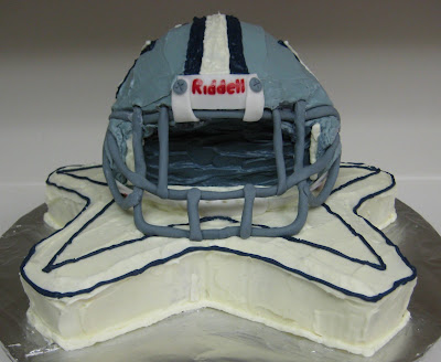 3D Dallas Cowboys Football Helmet Cake - Front View