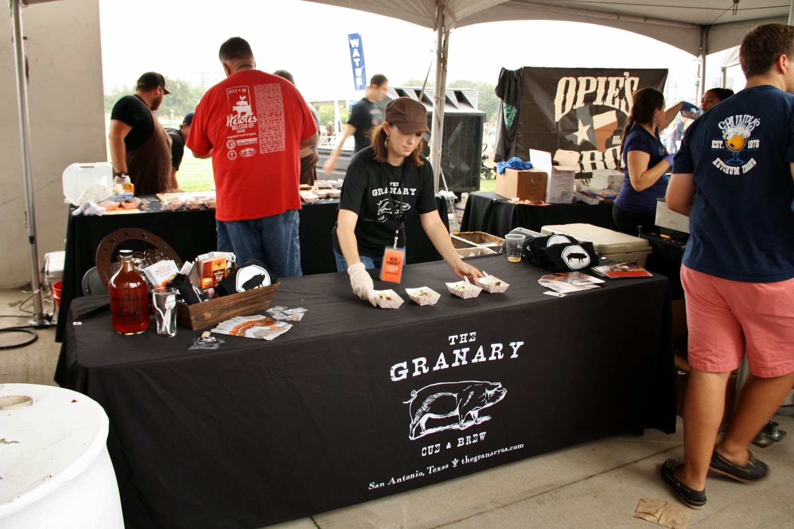 The Granary's booth at TMBBQ Fest