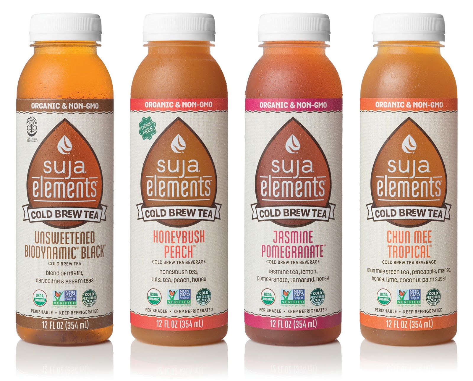 Suja Elements Cold Brew Tea On Packaging Of The World
