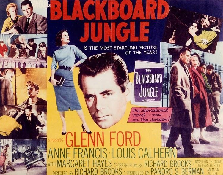A Vintage Nerd, Classic Film Blog, Old Hollywood Blog, Classic Teacher Movies, The Blackboard Jungle