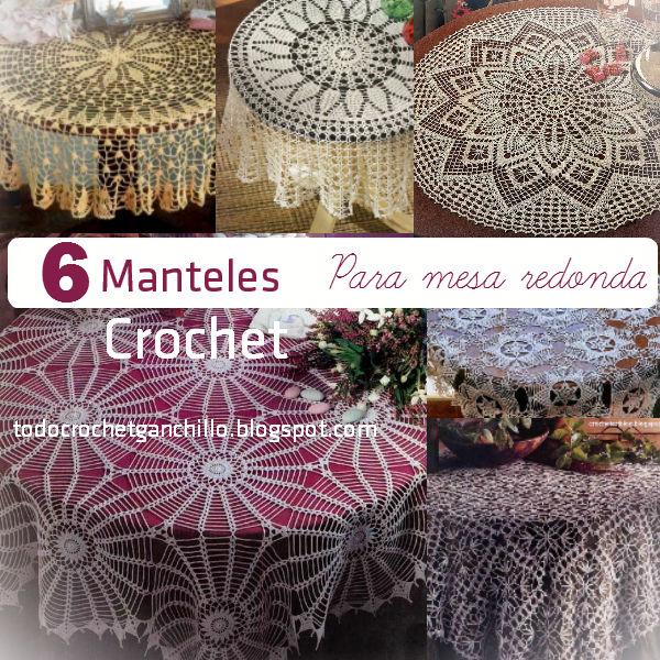 6 patrones de manteles crochet