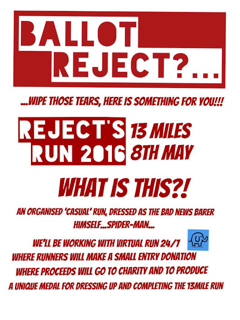 Reject Run leaflet