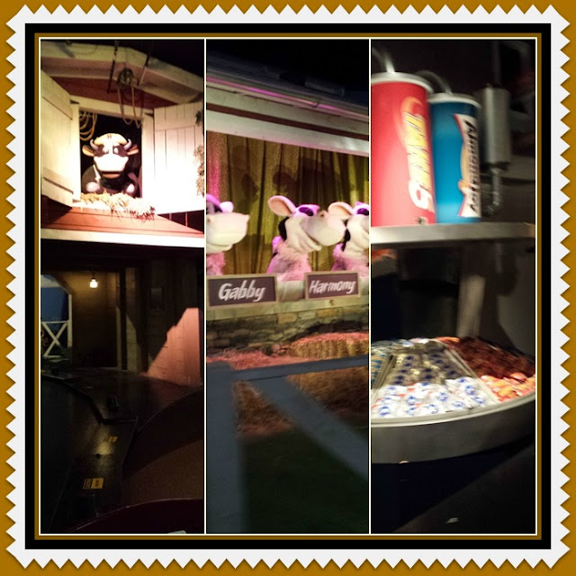 Inside the free tour at Hersheys chocolate world. Such a fun ride through the animated world of creating the candies!