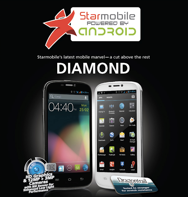 "Starmobile Diamond: 5"" HD Graphic Display, 12MP Camera with BSI Sensor"