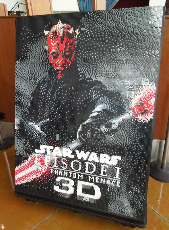 Star Wars Episode I Lego mural